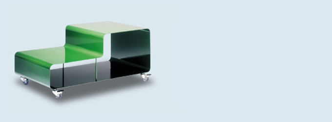 Coffee Table on castors by Muller - thorsten van elten